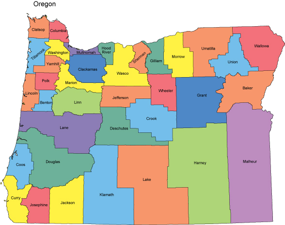 Oregon Background Check Pre Employment Background Checks By HireSafe - State of oregon map